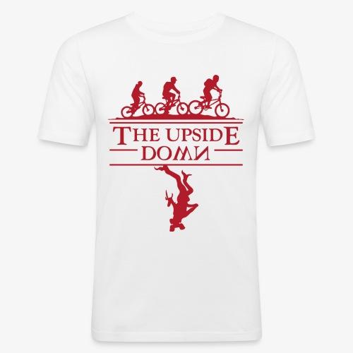 upside down - Obcisła koszulka męska