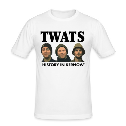 THE CREW TITLE TWATS - Men's Slim Fit T-Shirt