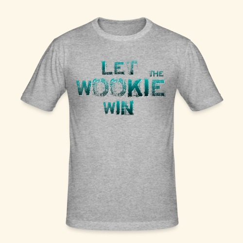 Let The Wookie Win, design 2. - Herre Slim Fit T-Shirt