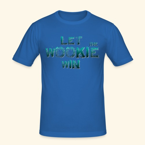 Let The Wookie Win, design 2. - Herre Slim Fit T-Shirt