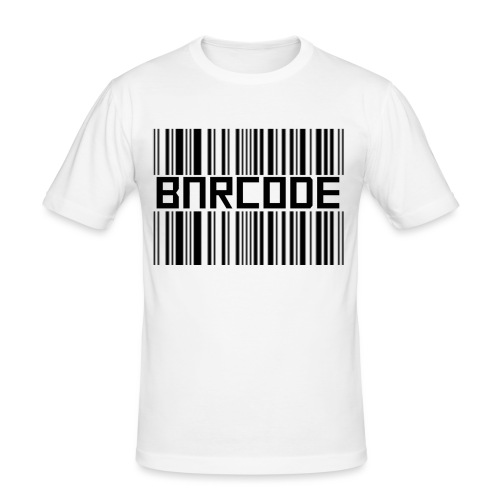 BARCODE WHITE - Men's Slim Fit T-Shirt