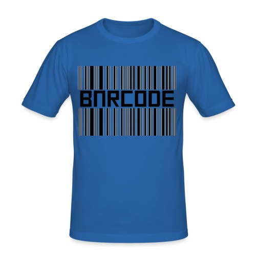 BARCODE WHITE - Men's Slim Fit T-Shirt