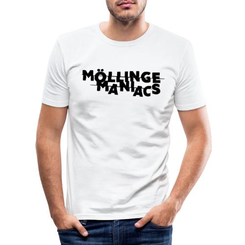 Möllinge Maniacs svart logga - Slim Fit T-shirt herr