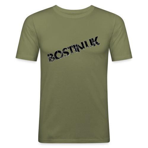 Bostin uk white - Men's Slim Fit T-Shirt