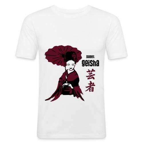 geisha2 - Männer Slim Fit T-Shirt