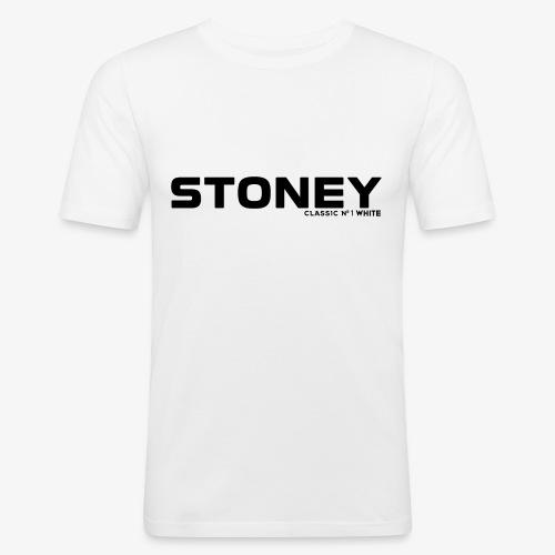 STONEY Classic No.1 WHITE - Männer Slim Fit T-Shirt