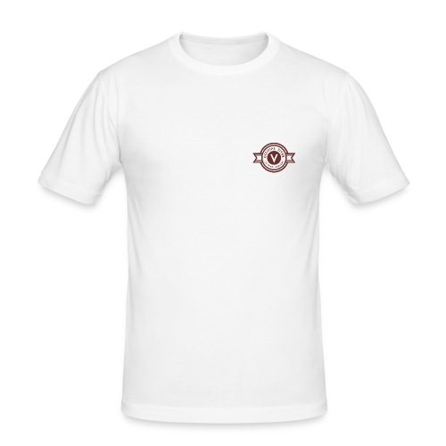 Fiver Originals- Burgundy - Men's Slim Fit T-Shirt