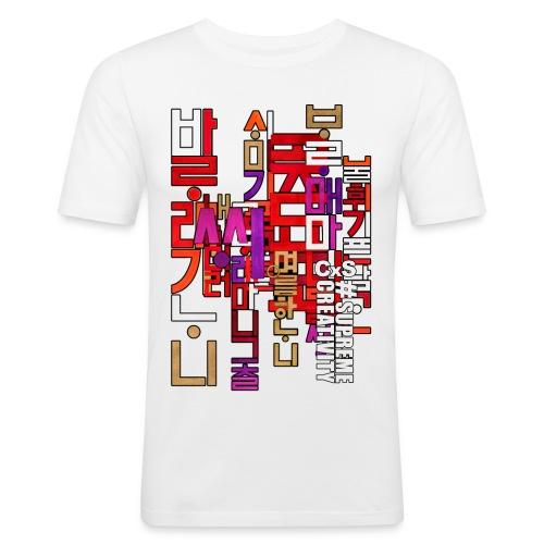 Hangul - T-shirt près du corps Homme