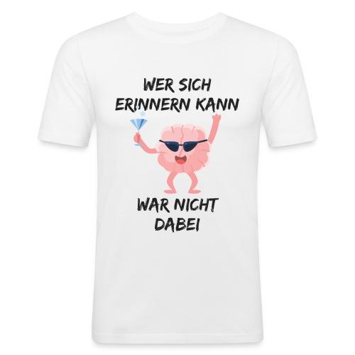 Wer Sich Erinnern Kann T-Shirt - Männer Slim Fit T-Shirt