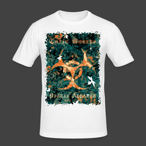 TOXIC WORLDS - 4B - Men's Slim Fit T-Shirt