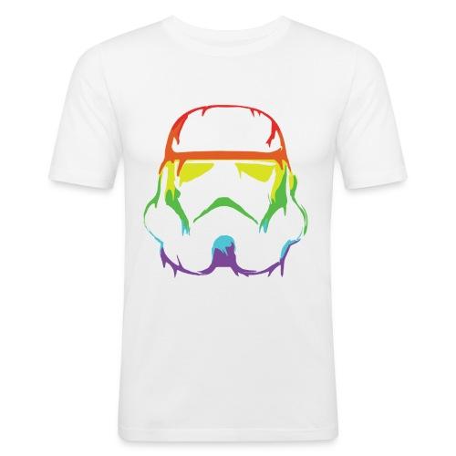 Pride Trooper - simple - Miesten tyköistuva t-paita