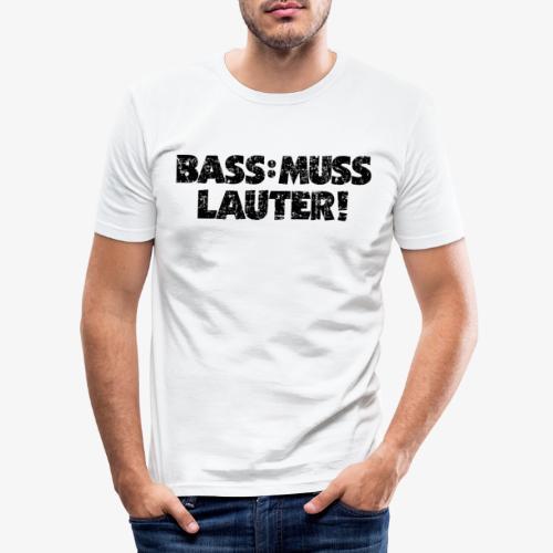 BASS MUSS LAUTER Vintage Schwarz - Männer Slim Fit T-Shirt