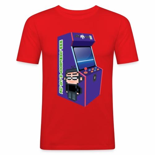 Game Booth Arcade Logo - Men's Slim Fit T-Shirt