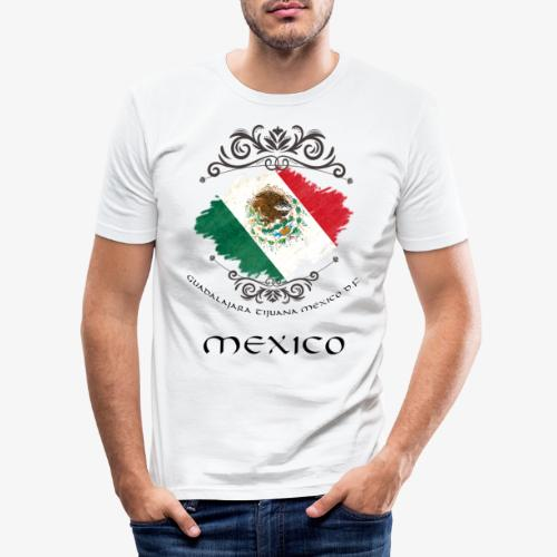 Mexico Vintage Bandera - Männer Slim Fit T-Shirt