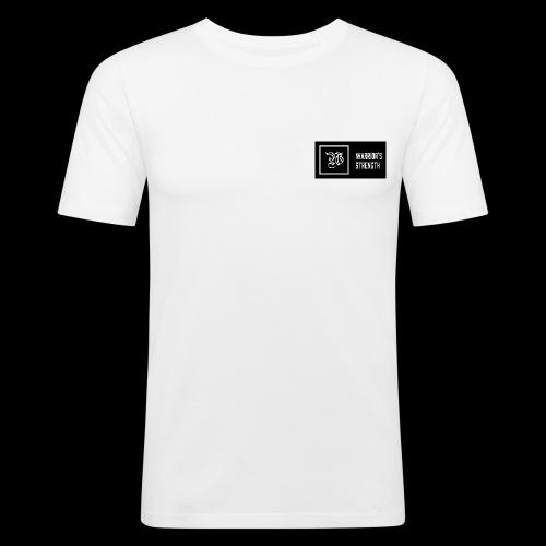 white logo dark background jpg - Men's Slim Fit T-Shirt