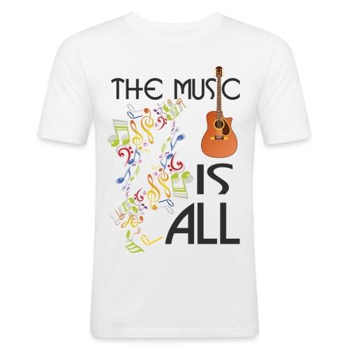 Musik ist Alles - Männer Slim Fit T-Shirt
