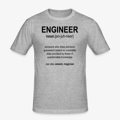Engineer Def. 1 (Black) - T-shirt près du corps Homme