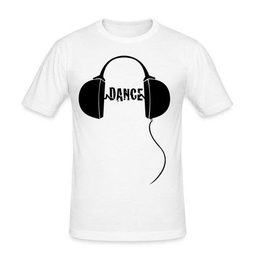 DJ Headphones with dance - Men's Slim Fit T-Shirt