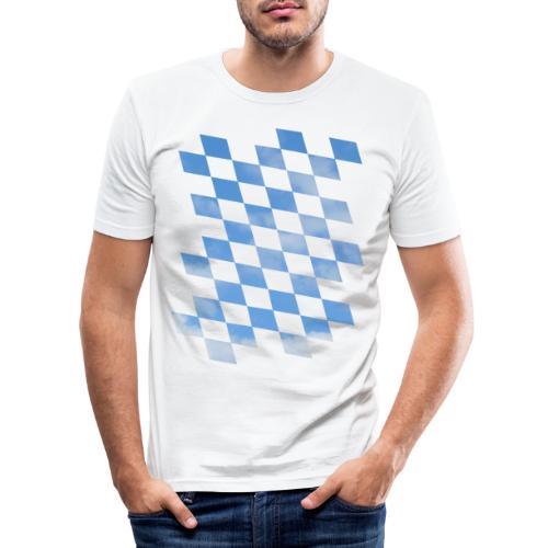 Himmlische Bayern Rauten Bayerische Fahne - Männer Slim Fit T-Shirt