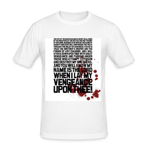 Bloody Ezekiel 25 17 - Men's Slim Fit T-Shirt