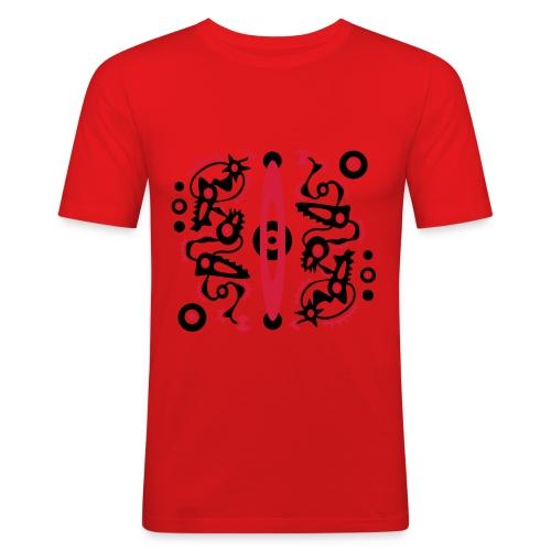 Tribal T-Shirt Design - Männer Slim Fit T-Shirt