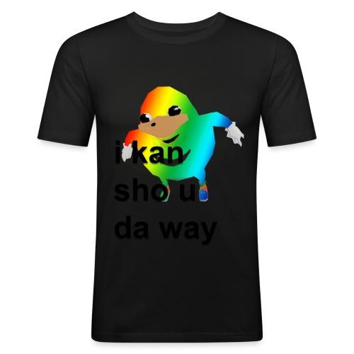 uganda - Miesten tyköistuva t-paita
