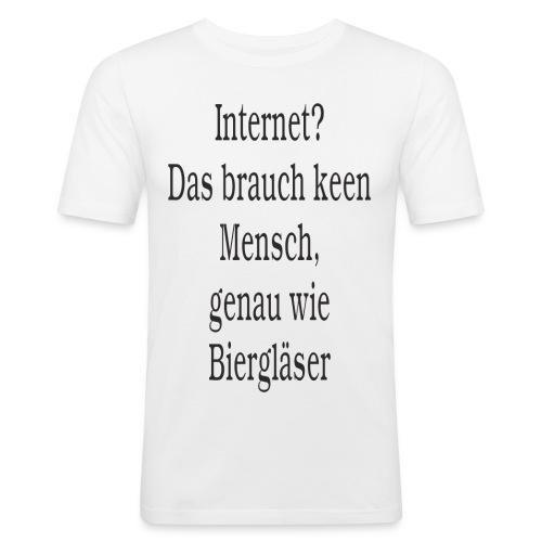 Internet - Männer Slim Fit T-Shirt