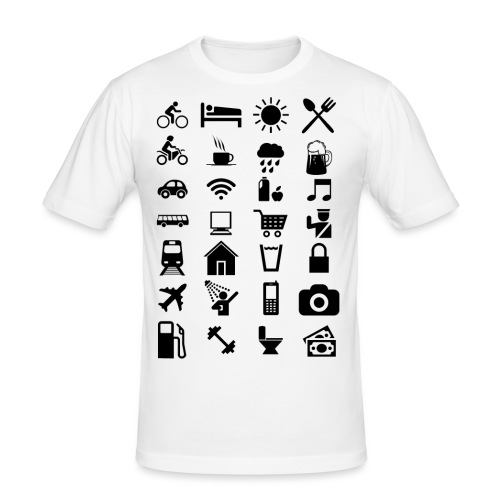 T-shirt de voyage à l'étranger - T-shirt près du corps Homme
