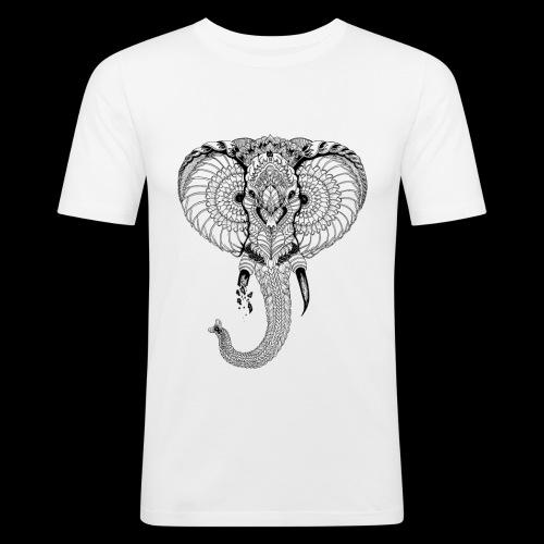 Elephant stylisé - T-shirt près du corps Homme