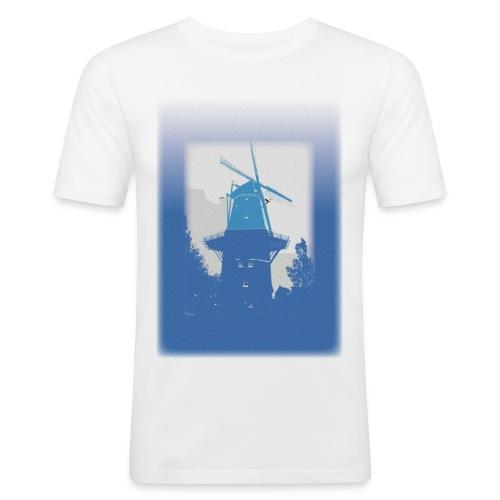 Mills blue - Obcisła koszulka męska