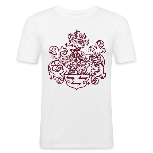 Wappen monochrom - Männer Slim Fit T-Shirt