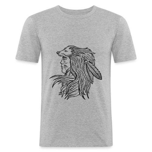 Native American - Maglietta aderente da uomo