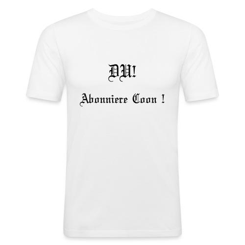 DU! Abonniere Coon! - Männer Slim Fit T-Shirt
