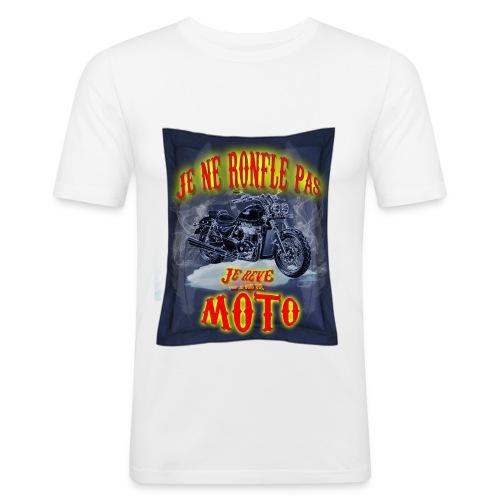 Un motard ne ronfle pas - T-shirt près du corps Homme