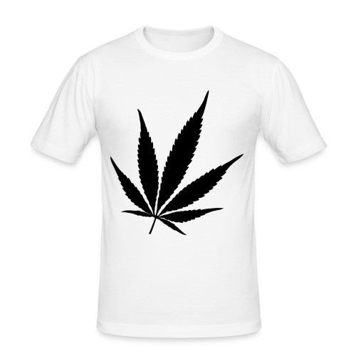 Weed black - Mannen slim fit T-shirt
