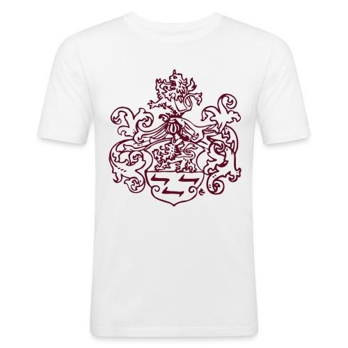 Alemann Wappen monochrom - Männer Slim Fit T-Shirt
