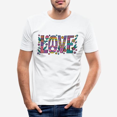 love peace hippie style - Männer Slim Fit T-Shirt
