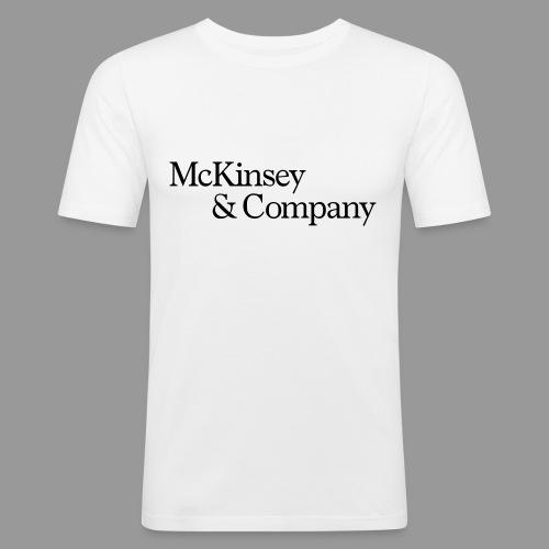 McKinsey_2Zeilen - Männer Slim Fit T-Shirt