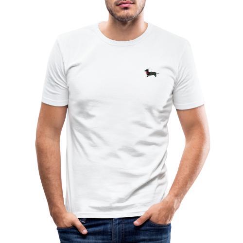 Dackel Jäger -minimal- Der Meister des Waldes - Männer Slim Fit T-Shirt