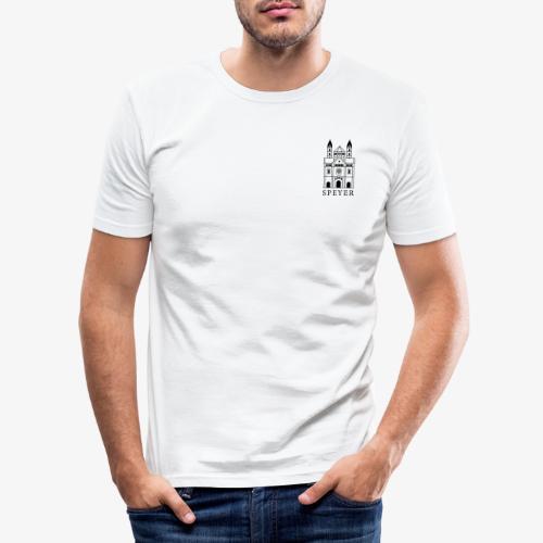 Speyer - Dom - Minimal - Classic Font - Männer Slim Fit T-Shirt