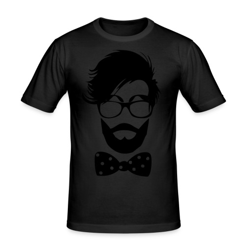 hipster_med_briller_og_butterfly - Herre Slim Fit T-Shirt