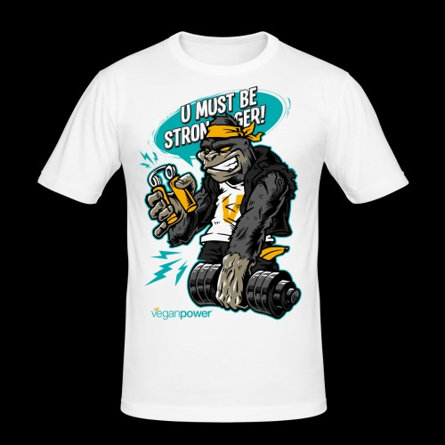 veganpower Gangsta Gorilla - Männer Slim Fit T-Shirt