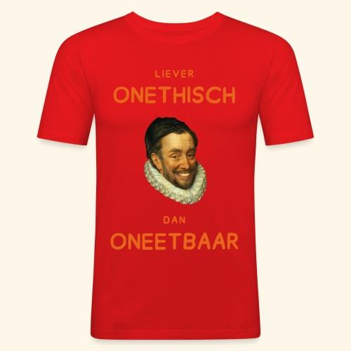 Liever onethisch dan oneetbaar - Mannen slim fit T-shirt