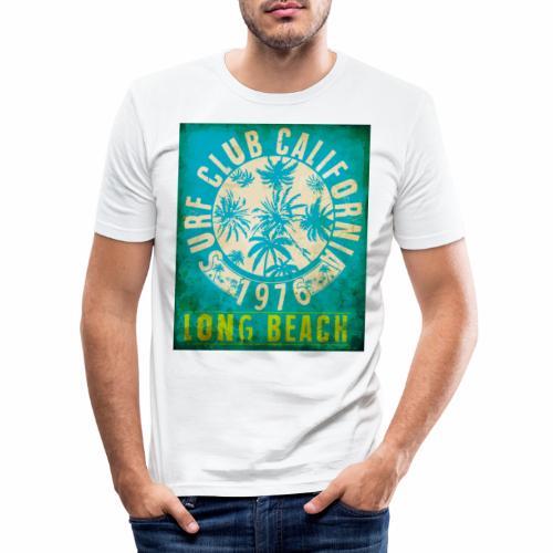 Long Beach Surf Club California 1976 Gift Idea - Men's Slim Fit T-Shirt