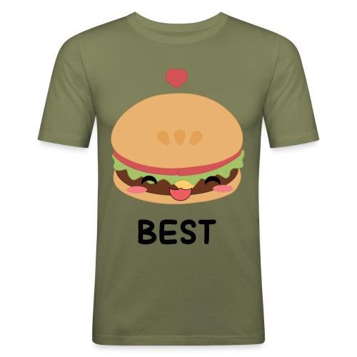 hamburger - Maglietta aderente da uomo