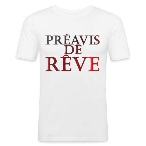 préavis de rêve (rouge) - T-shirt près du corps Homme