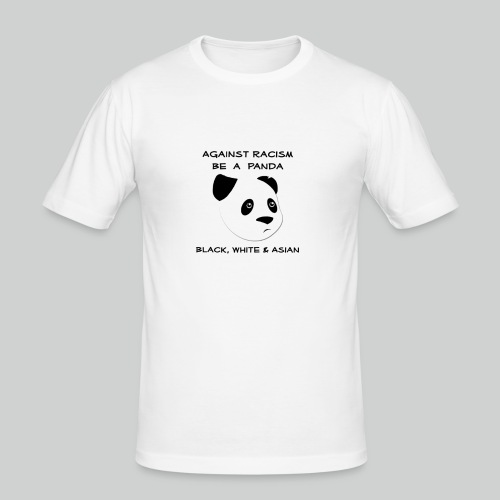 Against Racism Panda - Männer Slim Fit T-Shirt