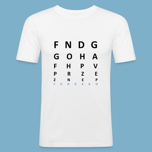 Fundago Label Motiv - Männer Slim Fit T-Shirt