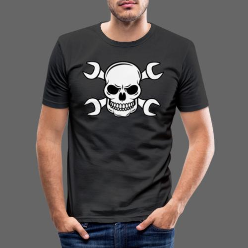 MEKKER SKULL - Herre Slim Fit T-Shirt