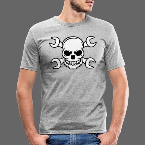 MEKKER SKULL - Herre Slim Fit T-Shirt